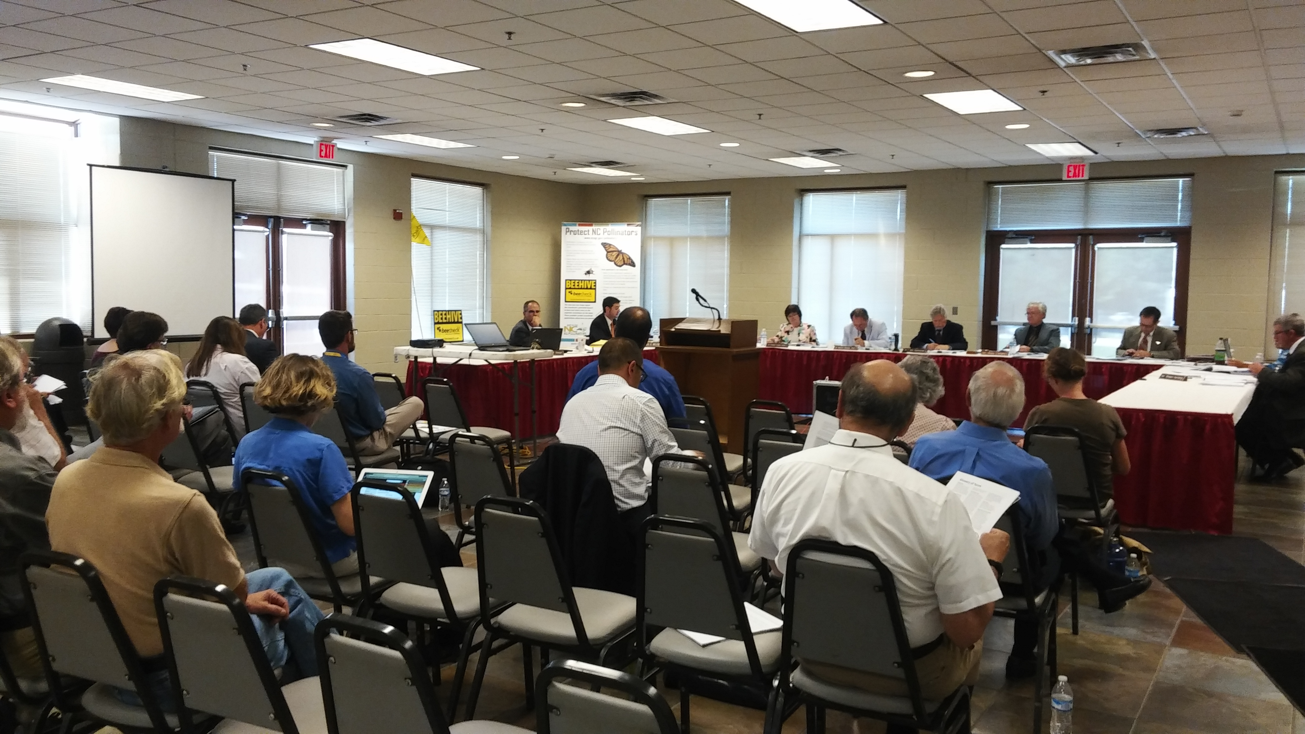 NC Pesticide Board Meeting – September 13, 2016 – Falling short of the mark